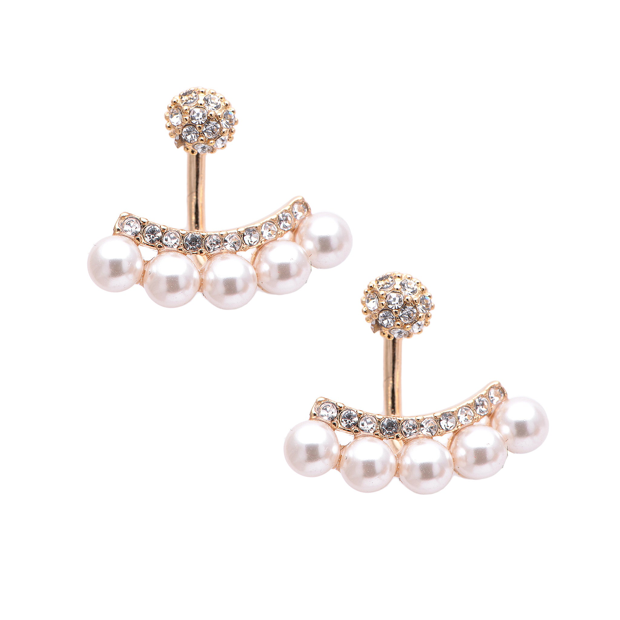 earrings stud faux pearl chanel round pin