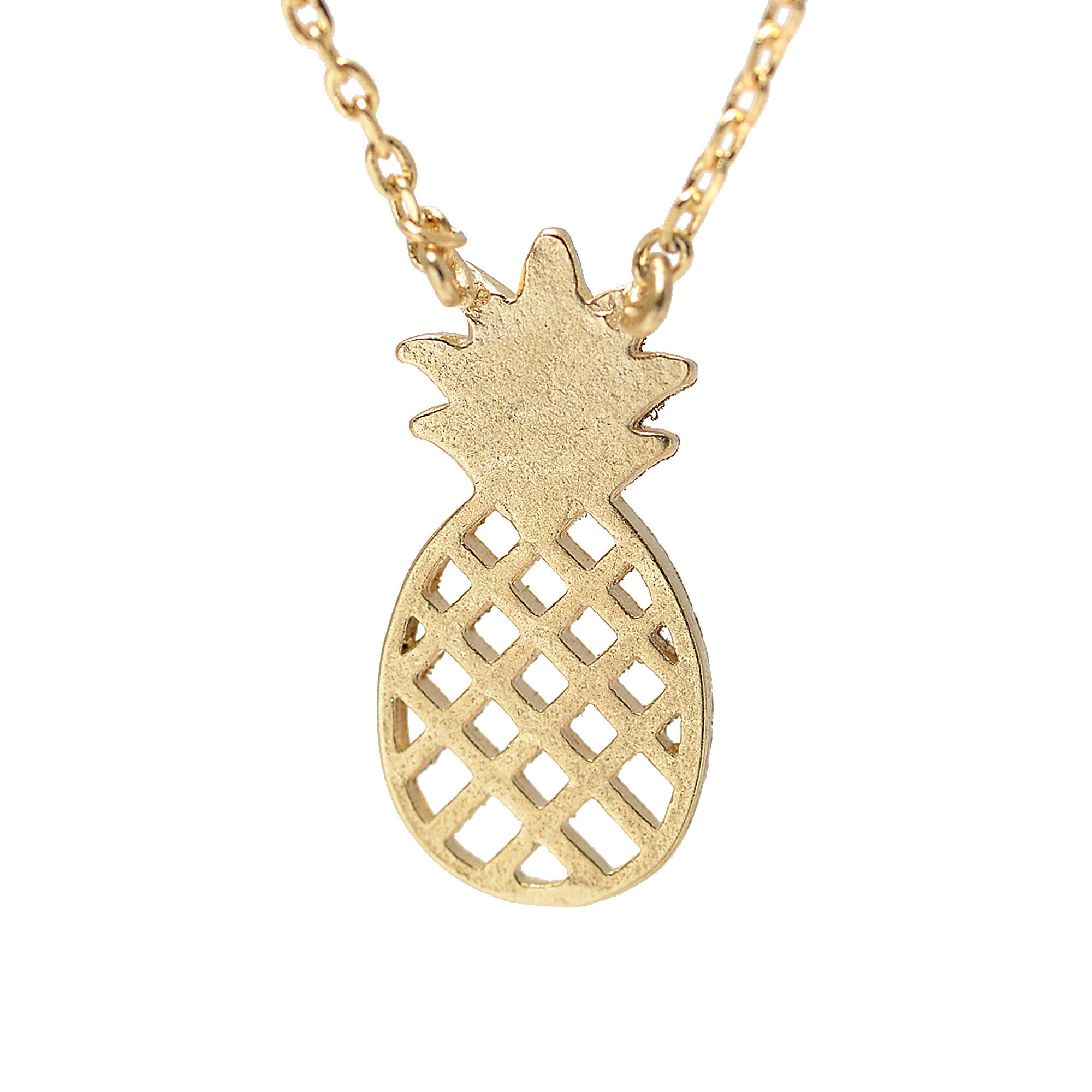 pineapple goldpineapplenecklace and co pearls pineapples product gold necklace