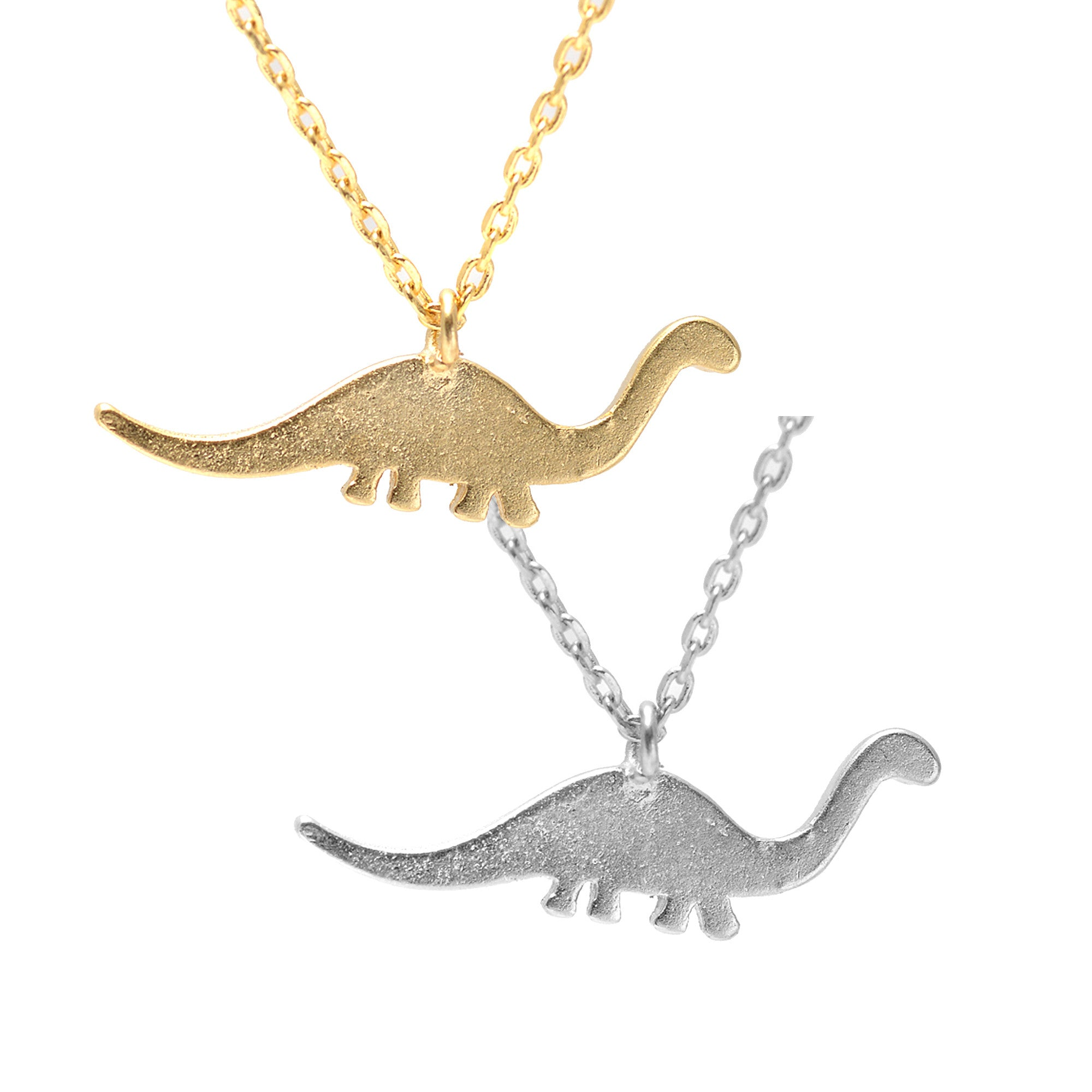 origami safari silver rhodium plated pendant women zoom john greed dinosaur necklace