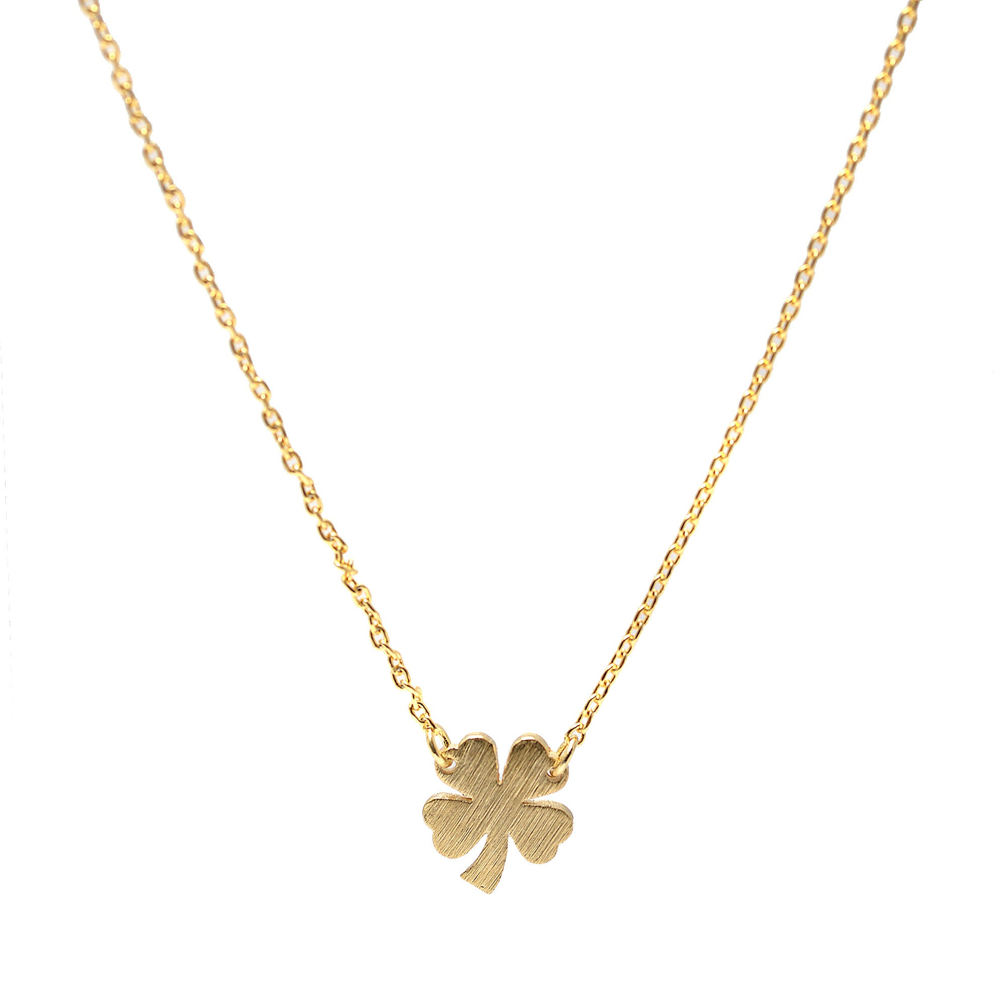 outline gold jewelry necklace clover four fullxfull listing ndld zoom leaf il