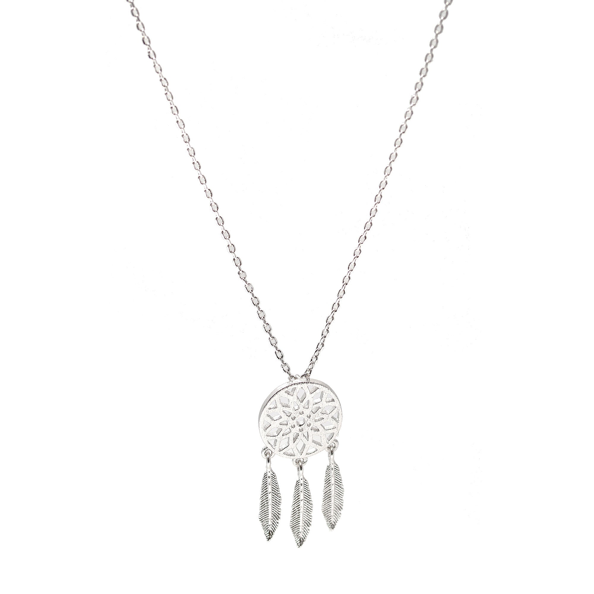 turkoise necklace dream silver sterling dreamcatcher apop inch products catcher