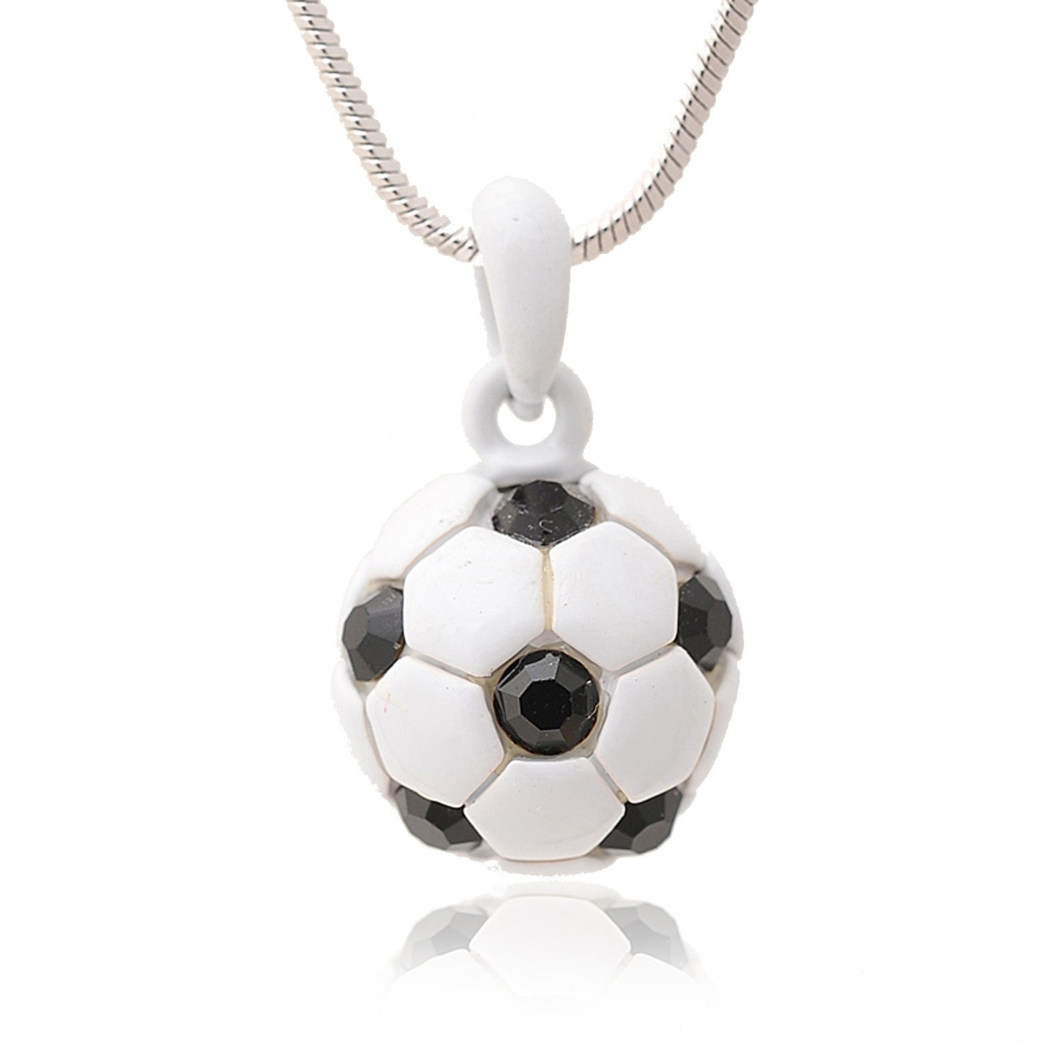 sterling pendant itm foot silver sport jewellery craft ball charm football ebay