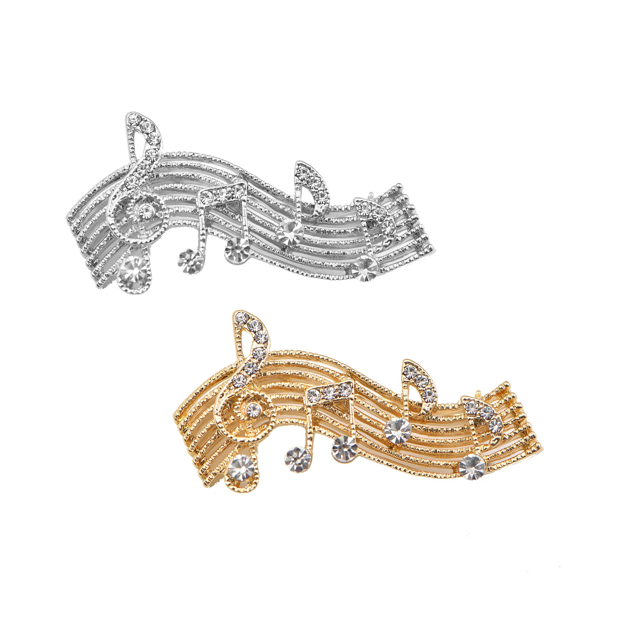 Marvelous Tiny Jewel Crystal Music Note Melody Brooch Pin   Spinningdaisy ...