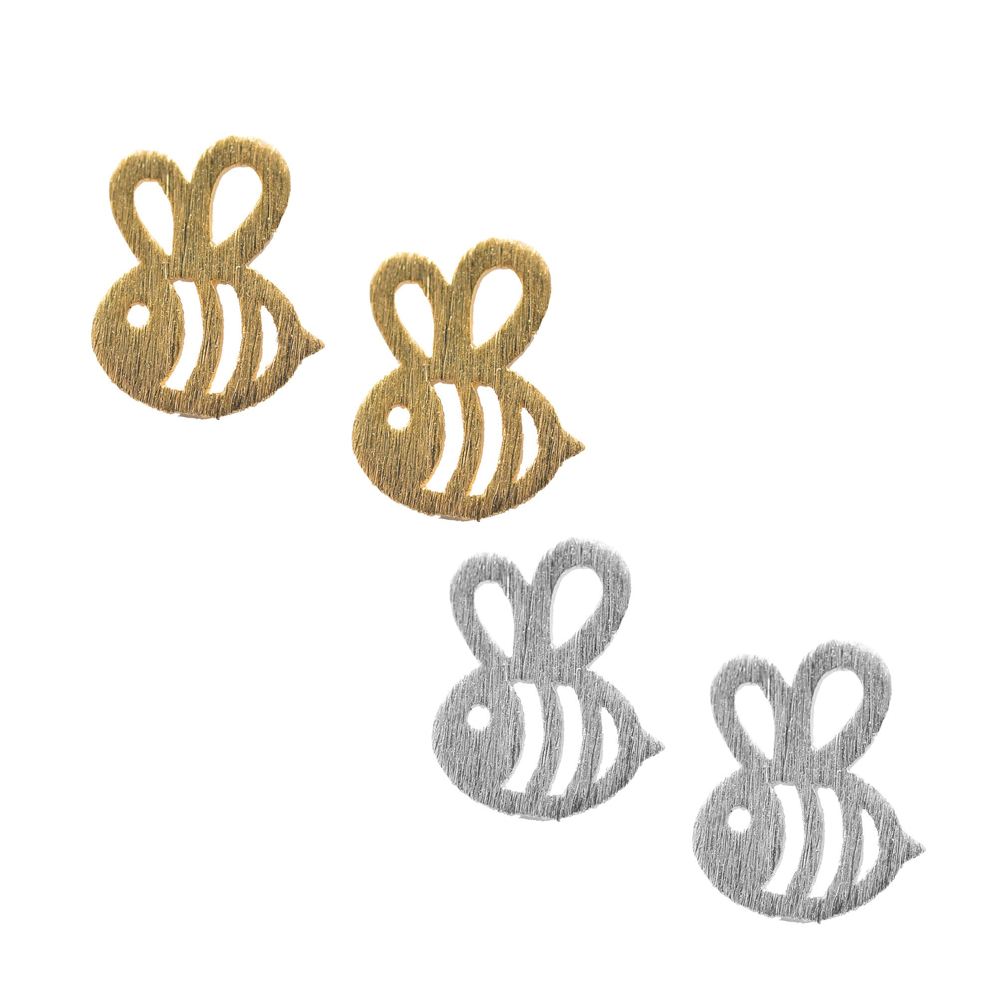 lyst yvonne leon diamond normal product l gold bee gallery earring stud metallic and on jewelry in