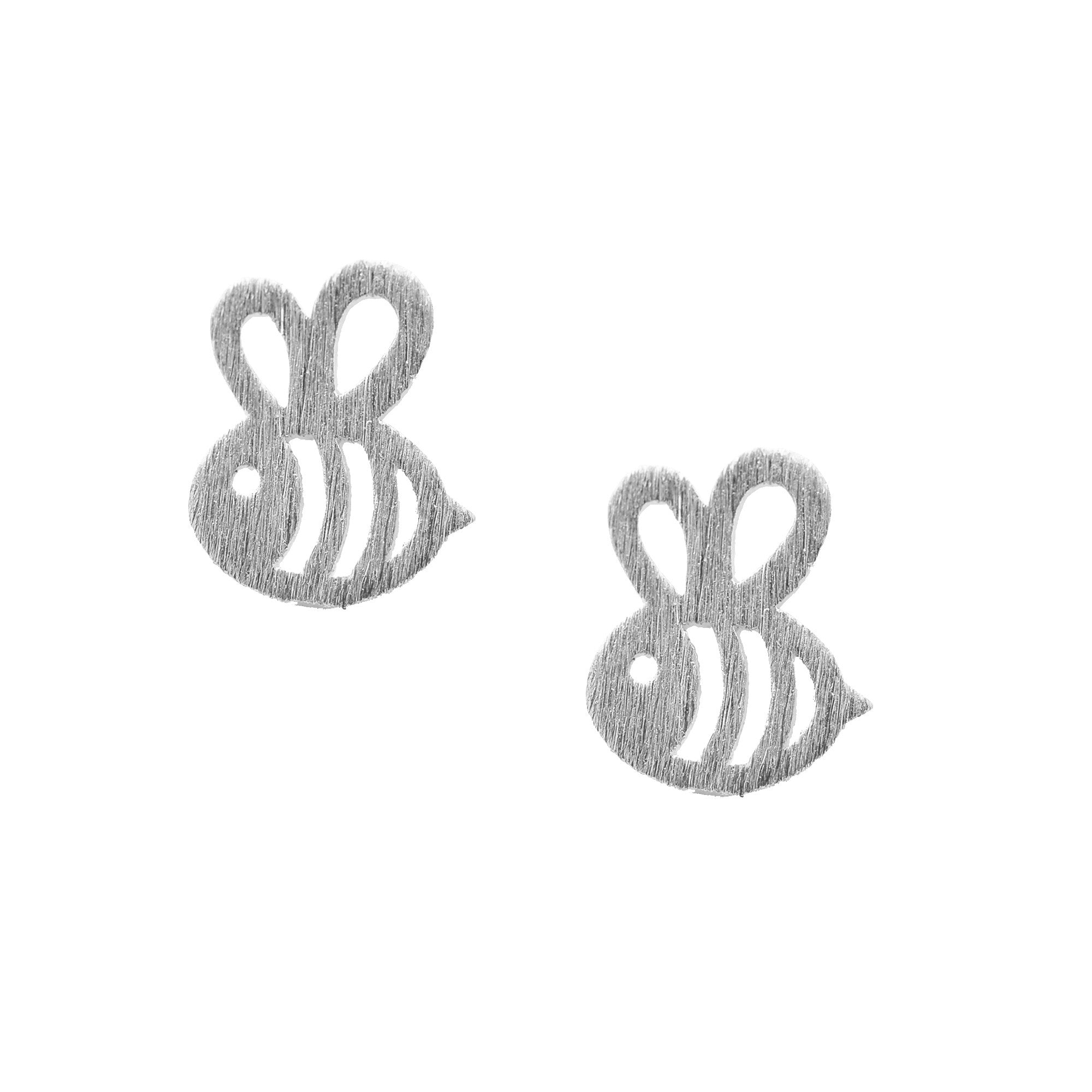 reppin gold earrings bee sterling stud vermeil silver product