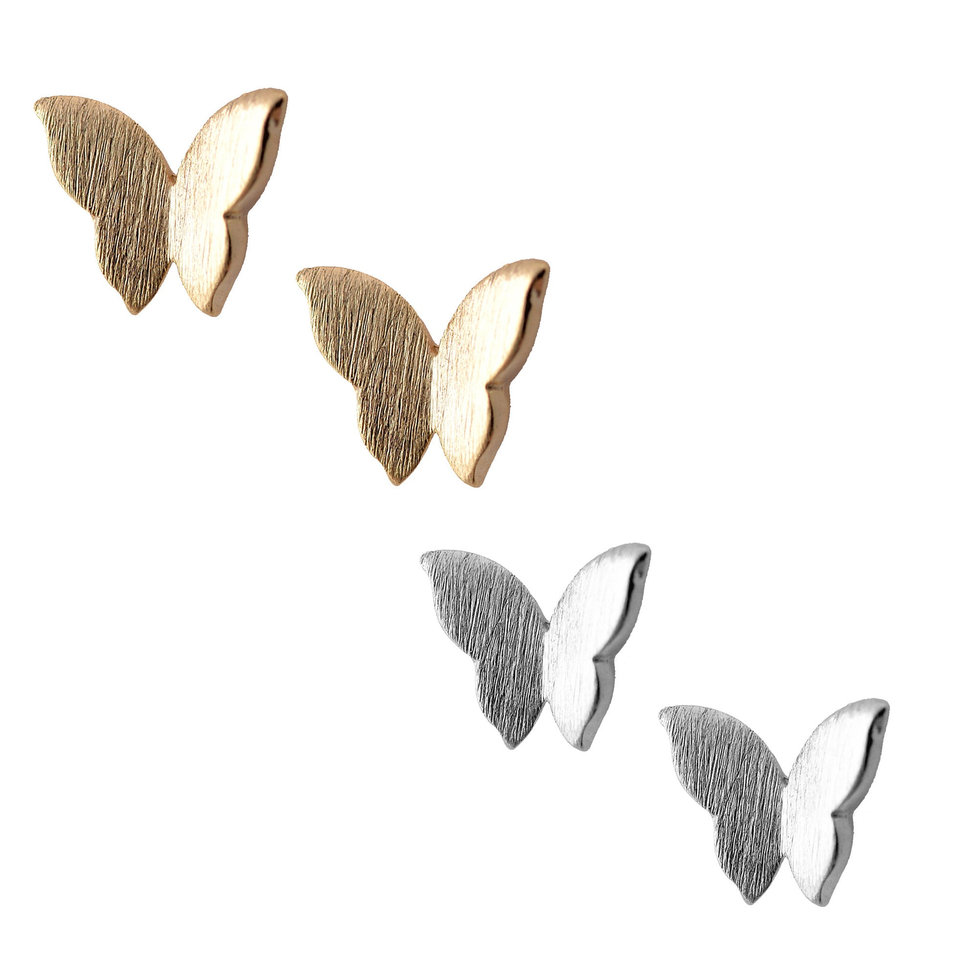 butterfly silver product wear stud