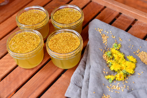 Wholesome Linen Blog - How To Make Dandelion Flower & Flax Seed Jam Recipe