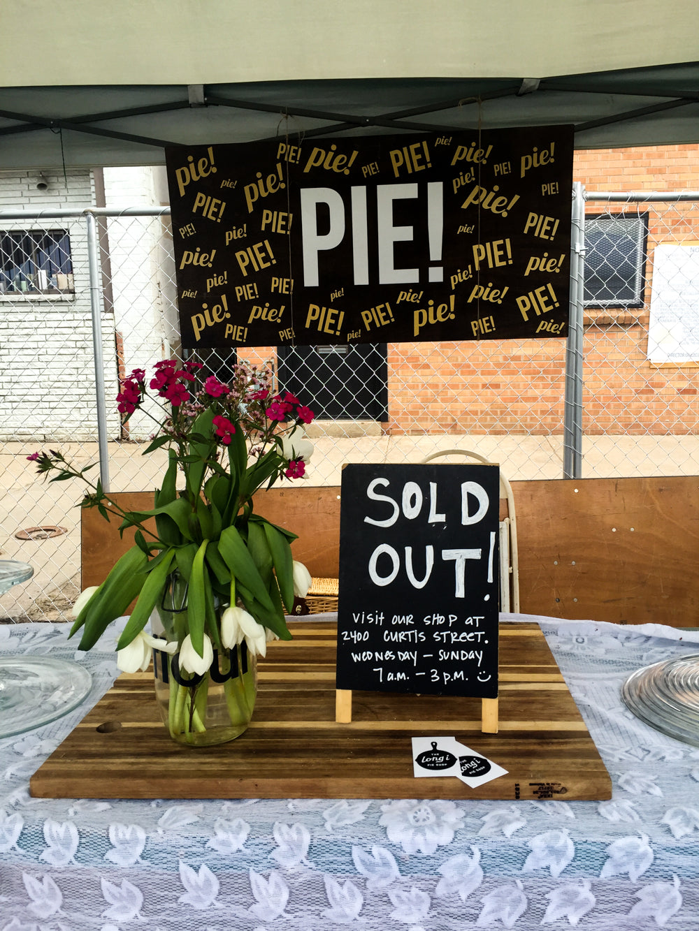 Pie Shop is Sold Out | Denver Flea