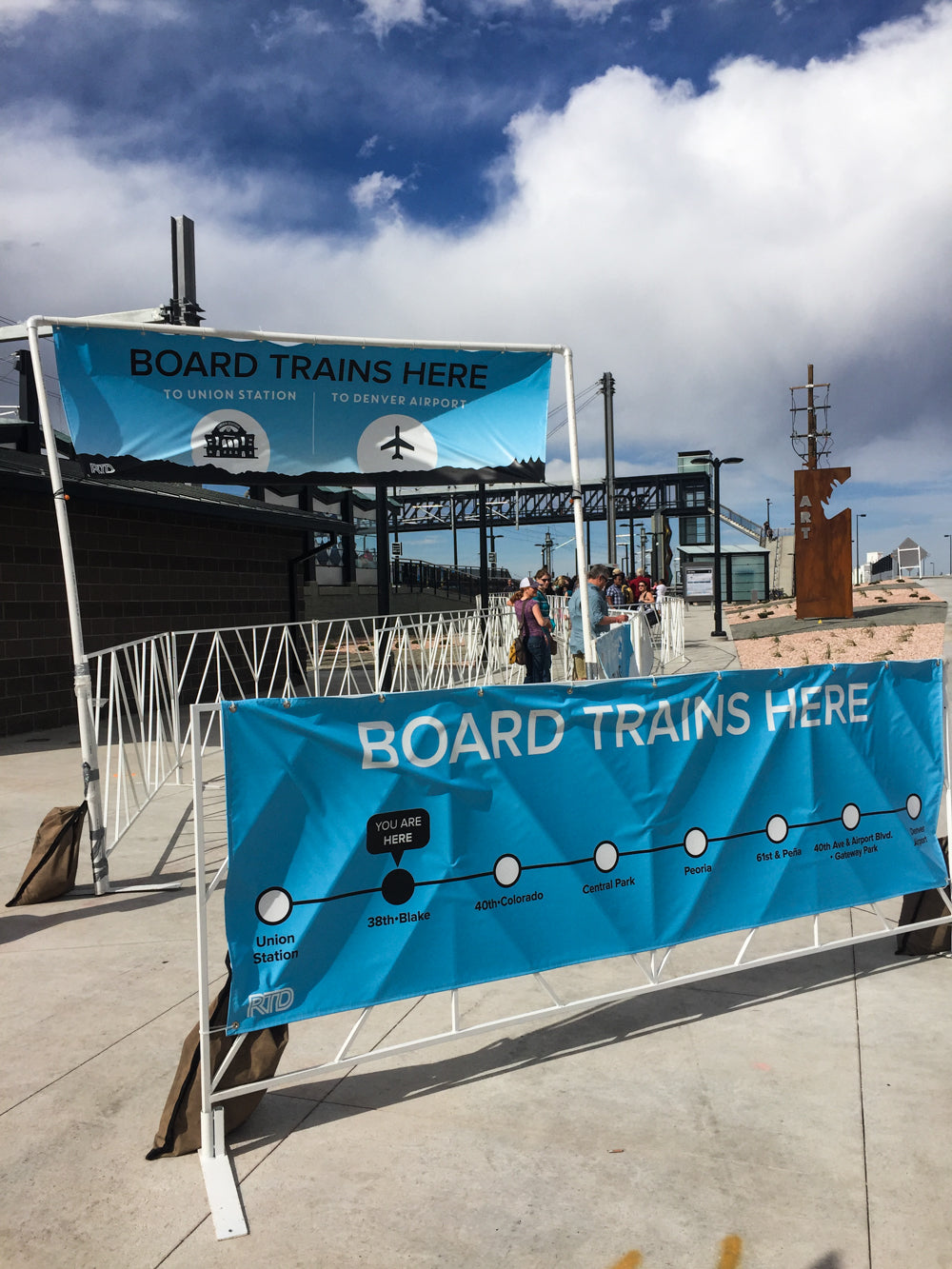 A-Line to DIA (Denver International Aeroport) is Open Today | 38th & Blake Station | Denver Spring Flea