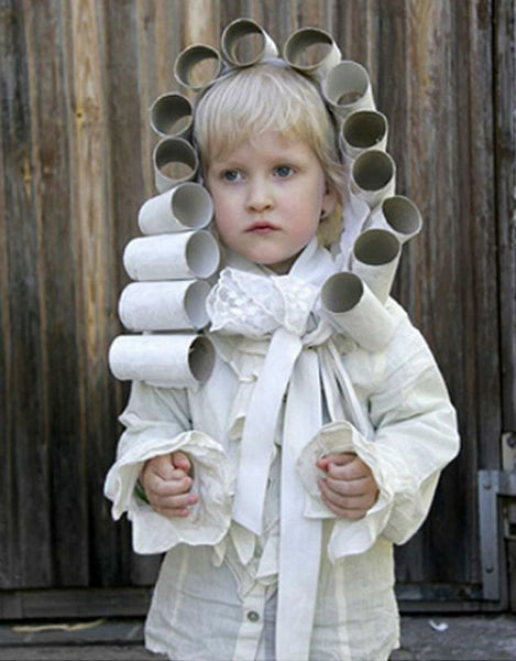 Rollhead Toilet Paper Wig - DIY Wholesome Eco Halloween Costume