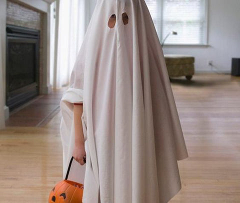 Spooky Sheet Over Head Ghost - DIY Wholesome Eco Halloween Costume