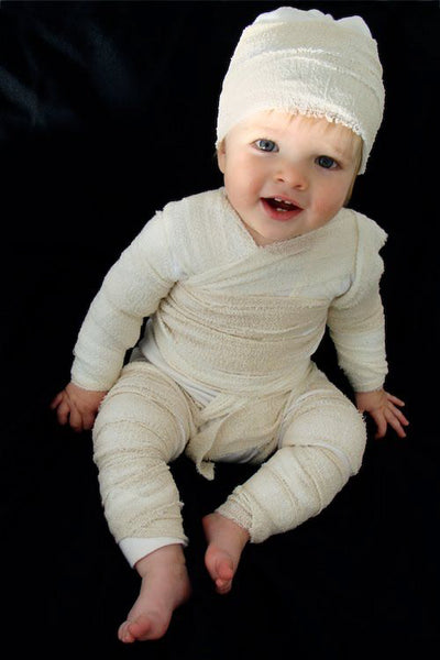 Baby Toddler Mummy - DIY Wholesome Eco Halloween Costume