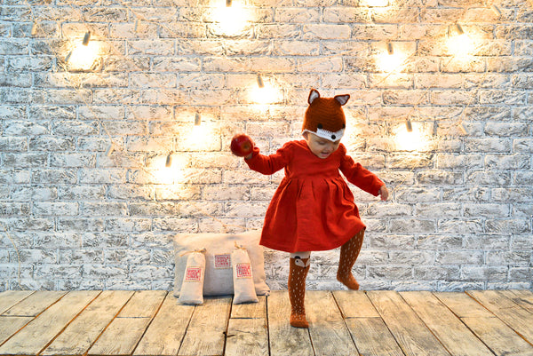 Lil Red Fox - DIY Wholesome Linen Eco Halloween Costume