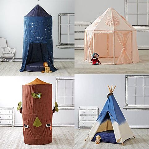 Land of Nod Teepees and Playhouse Wholesome Linen Toddler Gift Selections