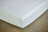 Crib Mattress Cover Fitted Sheet from Waterproof Waxed Linen - Wholesome Linen