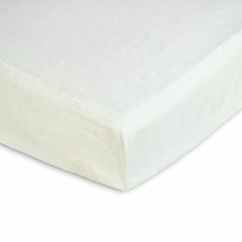 Water Repellant Crib Mattress Cover from Waxed Linen - Wholesome Linen