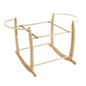 Moses Basket Stand in Natural & Grey Wood - Wholesome Linen