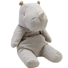 Pure Linen Soft Toy Baby Rhinoceros - Wholesome Linen