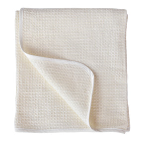 Organic Linen Honeycomb Baby Blankets in Two Colors - Wholesome Linen