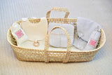 Premium Give Back Newborn Moses Basket Bassinet Set - Wholesome Linen