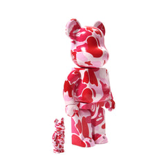 A Bathing Ape ABC Camo Be@rbrick 400%/100% Set (Pink)
