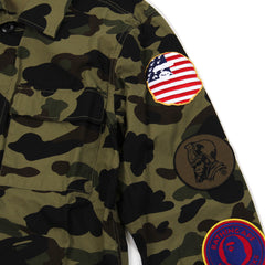 A Bathing Ape 1st Camo Military Shirt (Green)