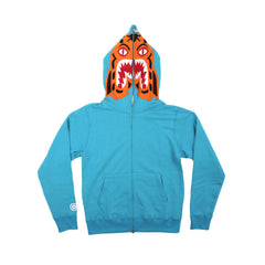 A Bathing Ape Tiger Full Zip Hoodie (Blue)