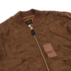 A Bathing Ape ABC Camo Jaquard Bomber Jacket (Brown)