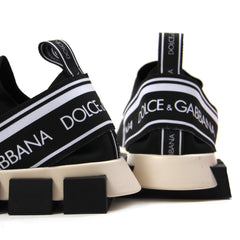 Dolce & Gabbana Branded Sorrento Sneakers (Black/White)