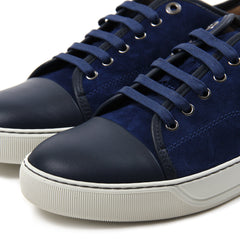 LANVIN Suede and Nappa Captoe (Ink Blue)