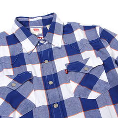 Levi's Knicks Flannel Shirt (Blue/White)