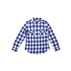 Levi's Womens Knicks Flannel Shirt (Blue/White)