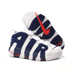 Nike Air More Uptempo '96 (White/Deep Royal Blue-Team Orange)