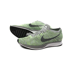 Nike Flyknit Racer (White/Cool Grey-Ghost Green)