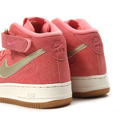 Nike Womens Air Force 1 '07 Mid Seasonal (Bright Melon/Metallic Gold)