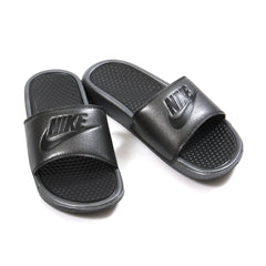 Nike Womens Benassi JDI Metallic QS (Metallic Black/Black)