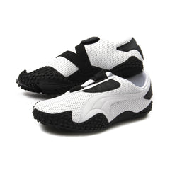 Puma Mostro Perf Leather (White/Black)