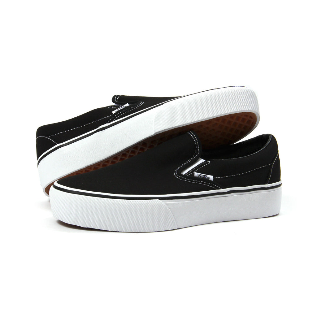 black classic slip on vans