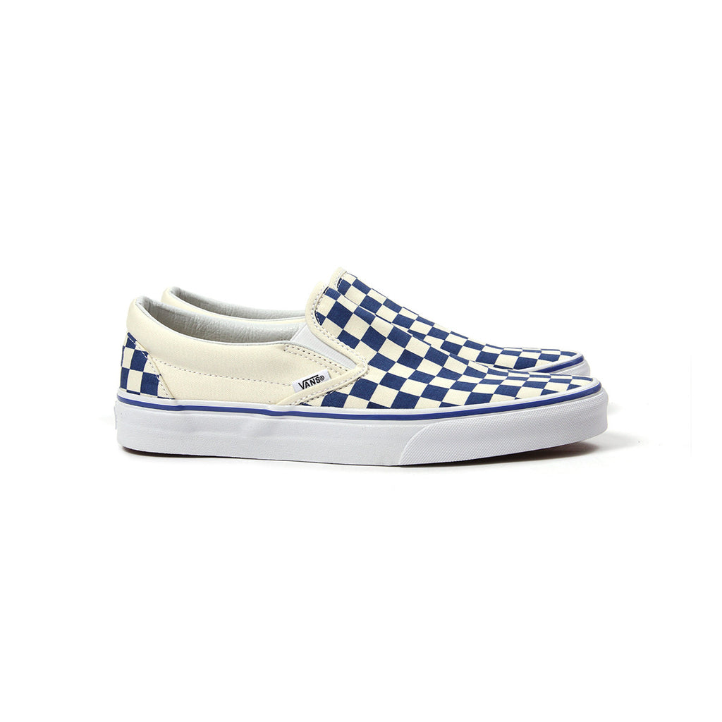 vans old skool classic checkerboard navy blue white