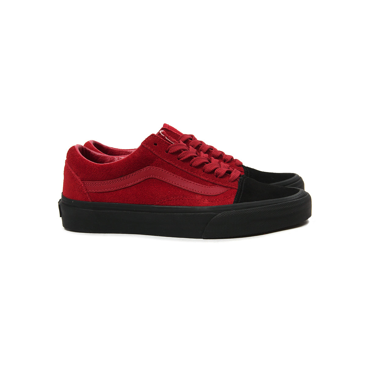 vans high tops red and black