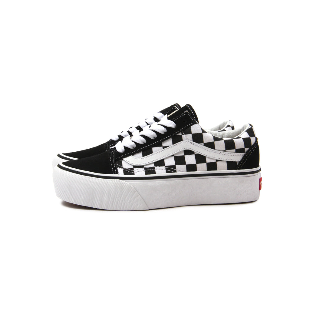 29984fd8c36 vans old skool checkerboard platform black and white off 52% - www ...