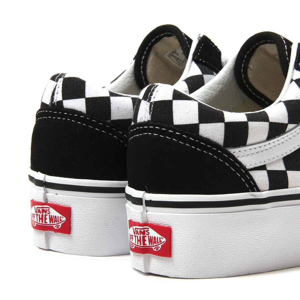 checkerboard vans old skool platform