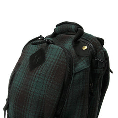 Visvim Buffalo Check 20L Backpack (Green)