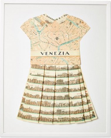 Folded Paper Map Dress: Venice
