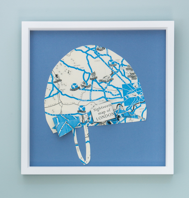 Folded Paper Map Swim Cap: London Map