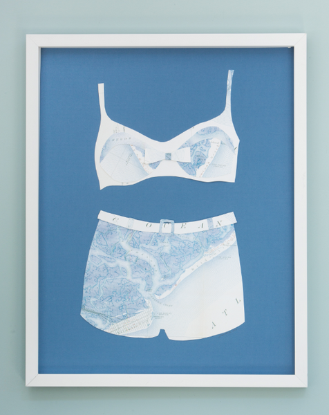 1 Folded Paper Map Bathing Suit: Nantucket Map