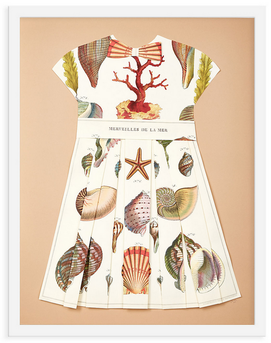 Folded  Paper Dress: Shells