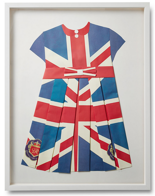 Folded  Paper Dress: British Flag