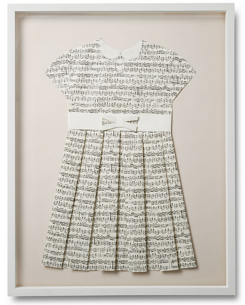 Folded  Paper Dress: Music Sheets