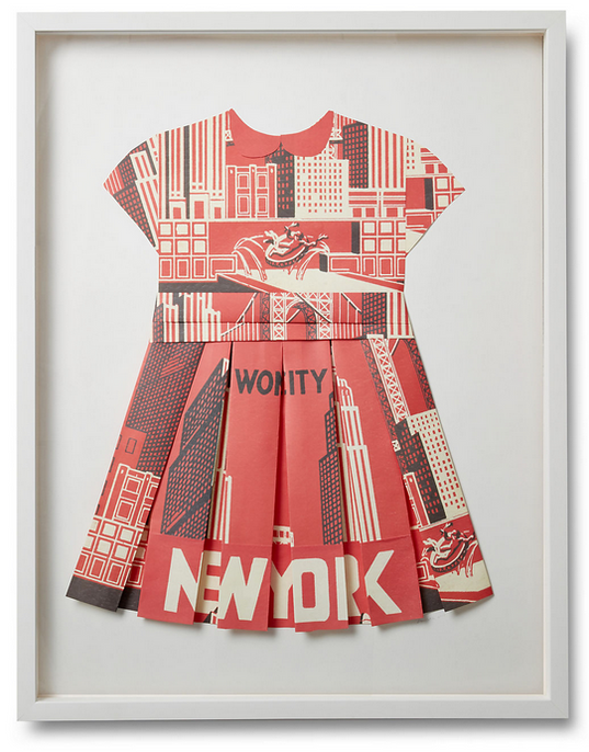 Folded  Paper Dress: New York Poster